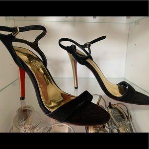 Fergie black suede pumps
